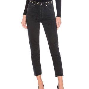 AGOLDE Jeans Black Jamie Grommet High Rise Sz 27